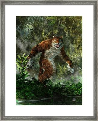 Weretiger Framed Print by Daniel Eskridge