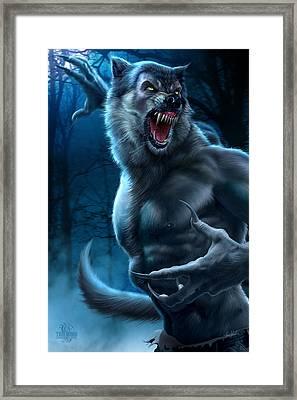 Werewolf Framed Print by Tom Wood