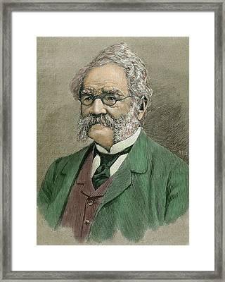 Werner Von Siemens (lenthe Framed Print by Prisma Archivo