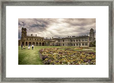 Framed Print featuring the photograph Werribee Mansion by Kim Andelkovic