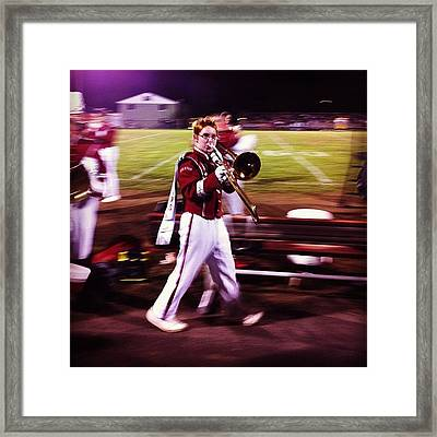 Wes In His Last Marching Uniform Game Framed Print
