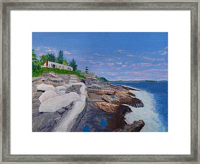 Weske Cottage Framed Print