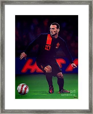 Wesley Sneijder  Framed Print