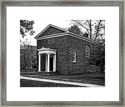 Wesleyan University Skull And Serpent Building  Framed Print
