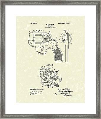 Wesson Revolver 1901 Patent Art Framed Print