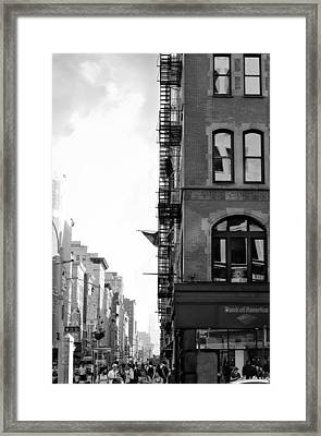 West 23rd Street Bw Framed Print by Laura Fasulo