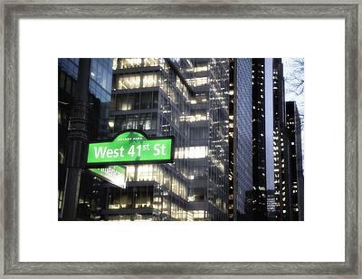West 41st Framed Print by Emmanouil Klimis