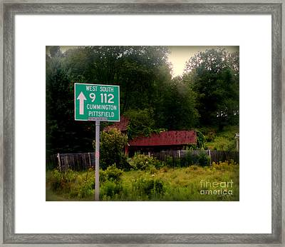 West And South Framed Print by Linda Galok