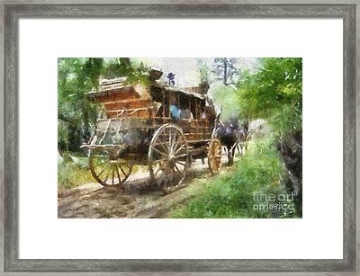 West Away Framed Print by Barbara R MacPhail