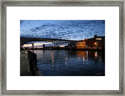 West Bank At Dusk Framed Print by Terri Harper