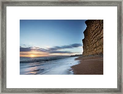 West Bay Landscape Framed Print by Ollie Taylor