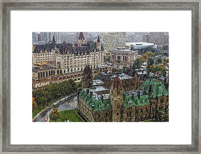West Block Of The Parliament Hill In Framed Print