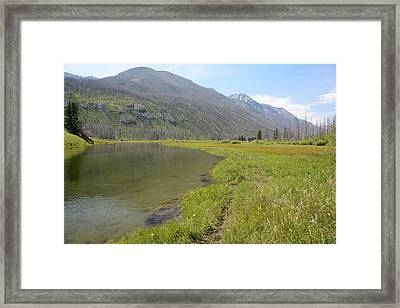 West Boulder Meadows Framed Print by Jenessa Rahn