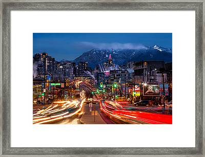 West Broadway And Cambie Framed Print by Alexis Birkill