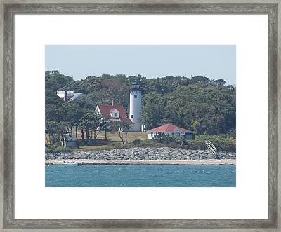 West Chop Lighthouse Framed Print by Catherine Gagne