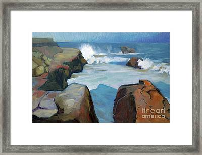 West Cliff Crash Framed Print