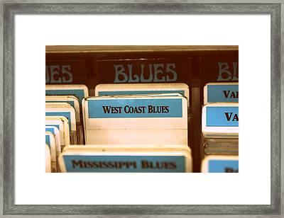 West Coast Blues Framed Print by Sarah Bergan