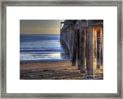 West Coast Cayucos Pier Framed Print