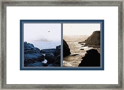 West Coast Scenes Diptych 2 Framed Print by Steve Ohlsen