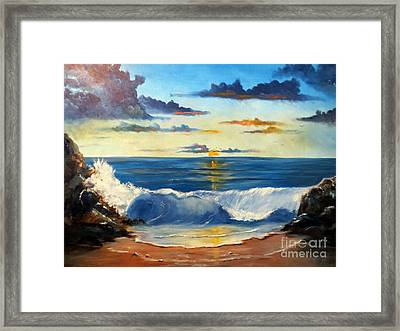 West Coast Sunset Framed Print by Lee Piper
