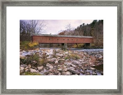 West Cornwall Covered Bridge Framed Print