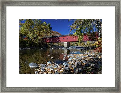 West Cornwall Covered Bridge Framed Print