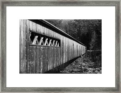 West Dummerston Covered Bridge Framed Print by Luke Moore