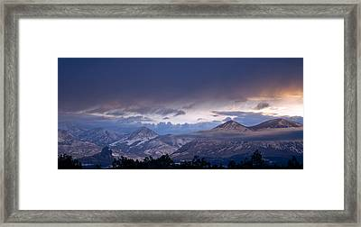 Framed Print featuring the photograph West Elk Mountains First Light by Eric Rundle