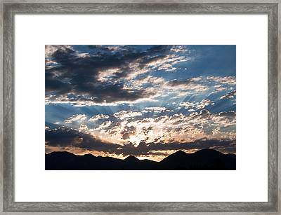West Elk Mountains Morning Framed Print