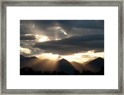 Framed Print featuring the photograph West Elk Sunbeams by Eric Rundle