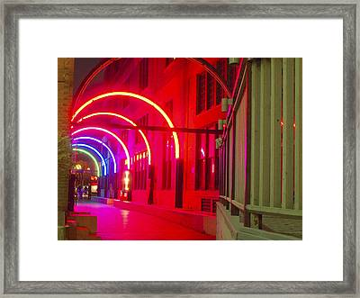 West End Archway In Dallas Framed Print by ARTography by Pamela Smale Williams
