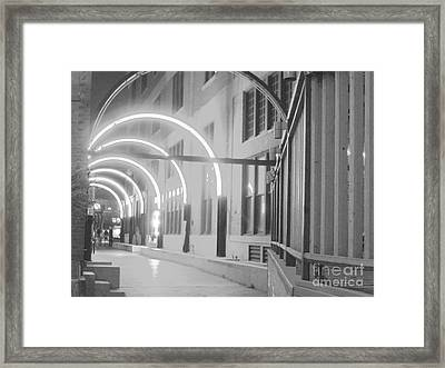 West End Archway Dallas Texas Framed Print by ARTography by Pamela Smale Williams