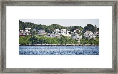 Framed Print featuring the photograph West End Long Island Maine by Richard Bean