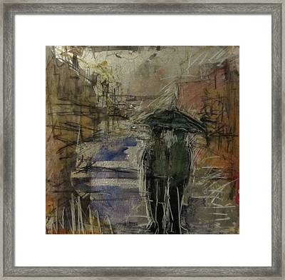 West End Rain Framed Print by Debbie Clarke