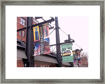 West End Station Dallas Dart Rail Framed Print by Donna Wilson