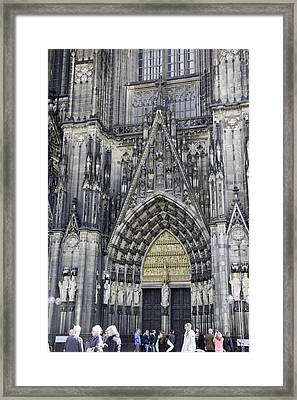 West Entrance Door Cologne Cathedral Framed Print by Teresa Mucha