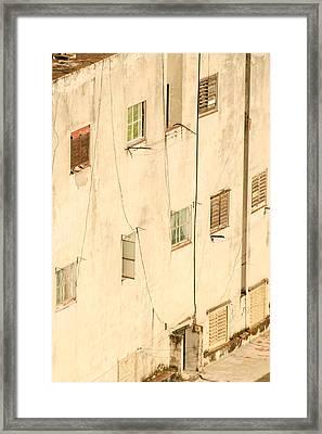 West-facing Wall In Havana Cuba Framed Print