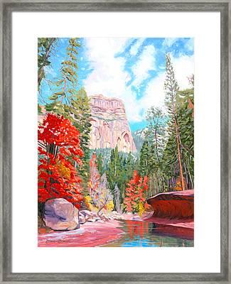 West Fork - Sedona Framed Print