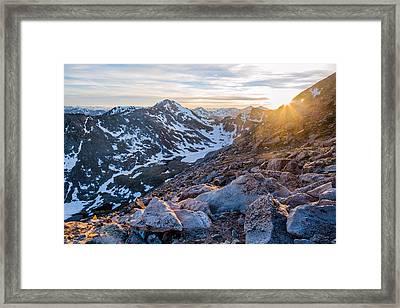 West From Evans Framed Print by Adam Pender