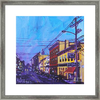 Framed Print featuring the painting West Front Street by Michael Ciccotello