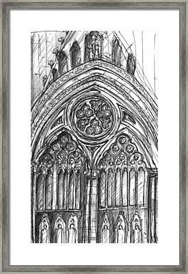 West Front York Minster Framed Print