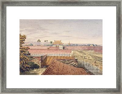 West Gate & Part Of City Wall Framed Print by British Library