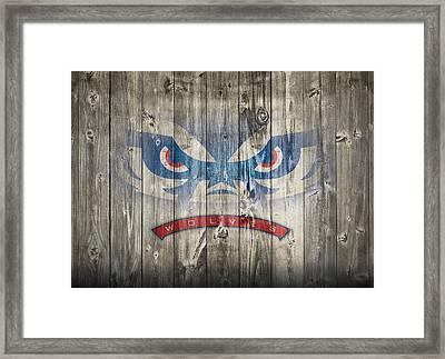 West Georgia Wolves Barn Door Framed Print by Dan Sproul