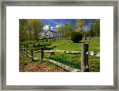 Framed Print featuring the photograph West Guilford Church by Paul Miller