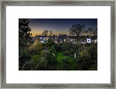 Framed Print featuring the photograph West Hampstead Sunset by Rob Tullis