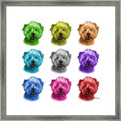 West Highland Terrier Mix - 8674 -wb - M Framed Print