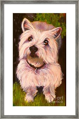 West Highland Terrier Reporting For Duty Framed Print