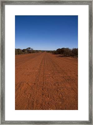 West Macdonald Range Framed Print