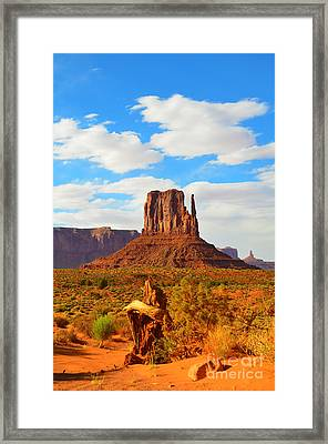 West Mitten At Monument Valley Framed Print