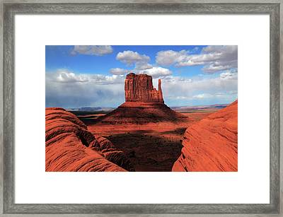 West Mitten From The Rim, Monument Framed Print